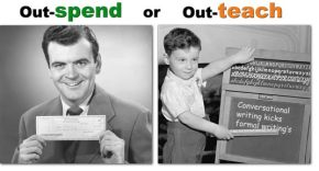 Outspend or Outteach