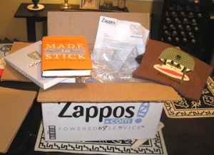 My Zappos order was delivered overnight as a special WOW gift to make me feel good.